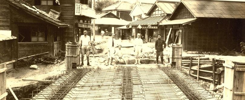 橋の施工写真