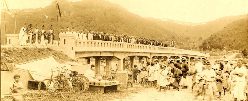 橋の施工写真2